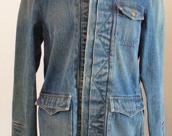 Vintage Ralph Lauren Long Heavy Denim Jacket Size M