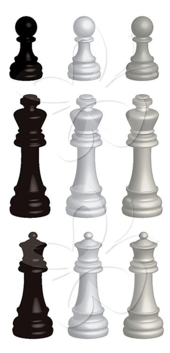 3d Chess Pieces Digital Clip Art Clipart Set by ...