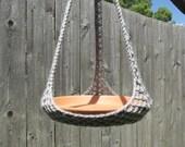 Plant Hanger/Bird Feeder Indoor Outdoor Crochet - Grey or Any Color Of Your Choosing