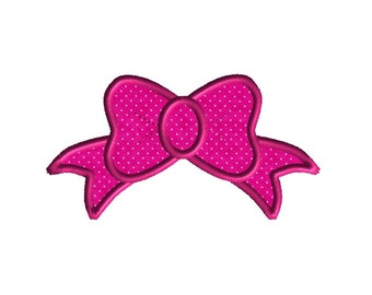 Princess Bow Machine Embroidery Applique Design-INSTANT DOWNLOAD