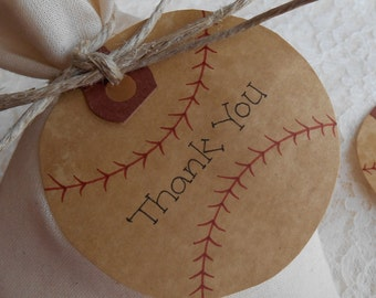 10 BASEBALLS Tattered Worn Vintage Appearance Gift Card Tags