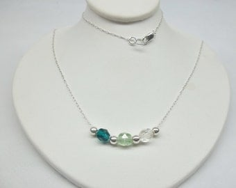 Mother's Necklace Birthstone Necklace Grandmother's Necklace Mother's Jewelry 925 Sterling Silver Necklace BuyAny3+Get1 Free
