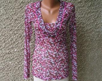 Vintage mesh blouse, size M-L