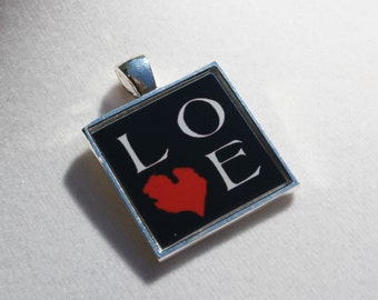 Michigan Love Resin Pendant