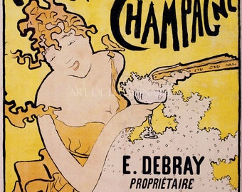 Poster ART PRINT from Belle Epoque Poster Ad for Champagne