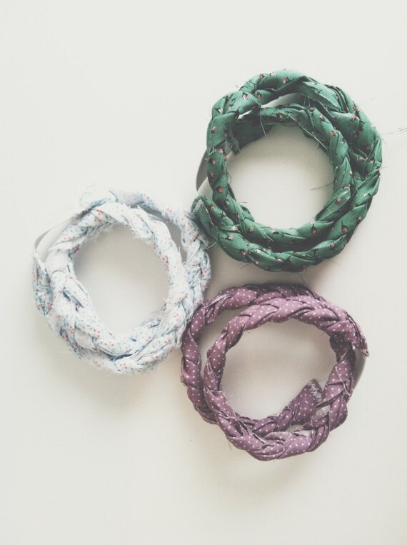 Braided Headbands BEST SELLER! - Recycled Fabric - Look Great With Short Hair!