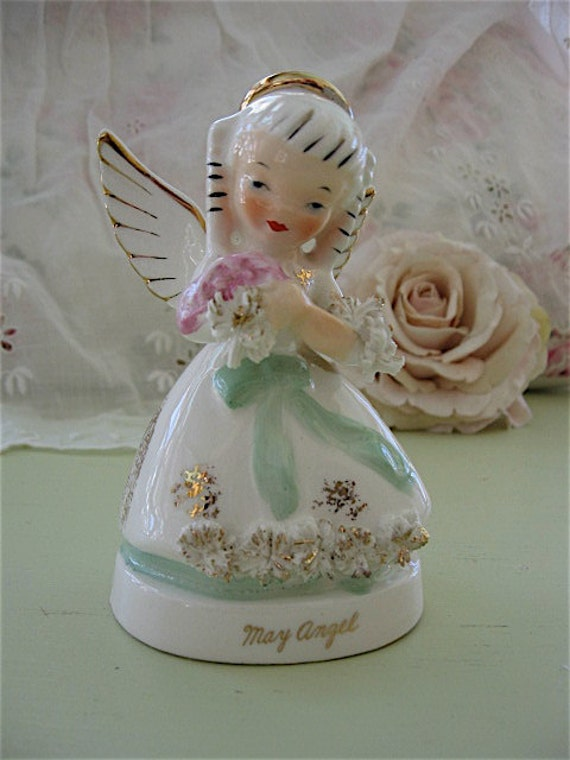 Napco May Birthday Angel Vintage Birthday Month Figurine May