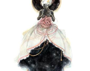 Woven Universe 9x12 Illustration Watercolor Print