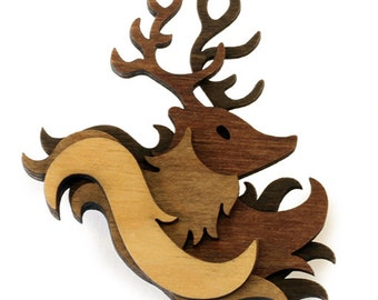 Woodland Brooch: Stag