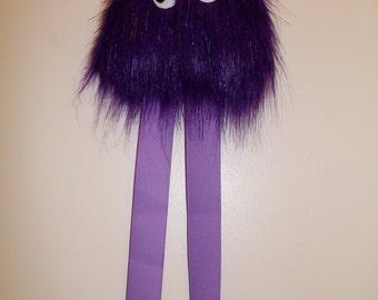 Furry Monster Hair Bow Holder