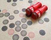 Mini Dots Rubber Stamp // Set of 2 Mini Stamps