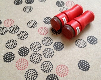 Mini Dots Rubber Stamp // Set of 2 Mini Stamps