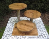 Rustic Cupcake Stand, Rustic Cake Stand, Rustic Wedding, Log Cupcake Stand, Cake Stand, Cupcake Stand, Wood Cupcake Stand,Your Divine Affair