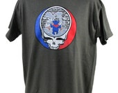 Grateful Dead Steal Your Face Owsley Dancing Bear Dark Olive T-Shirt