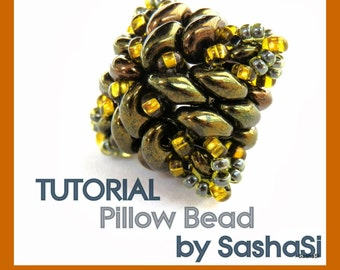 PILLOW BEAD Beading Tutorial DOWNLOAD - Step-by-Step Beading instructions - pdf File