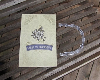 Sense and Sensibility by Jane Austen - Antiqued Yellow  Book Purse - Made to Order