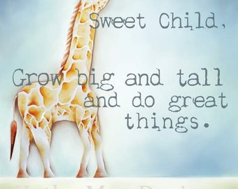 Giraffe-Prints-Giraffe Nursery Art-Giraffe Nursery Decor-Children's Art-Children's Wall Art-Kids Wall Art