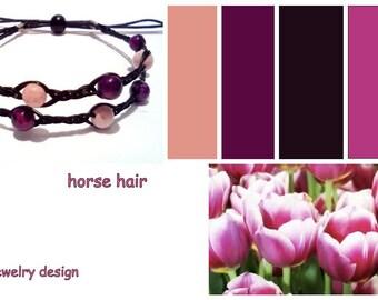 HORSE HAIR bracelet -2 line