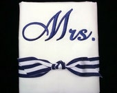 Pillowcase Set Monogrammed Mr. & Mrs.