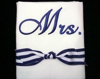 Pillowcase Set Monogrammed Mr. & Mrs.