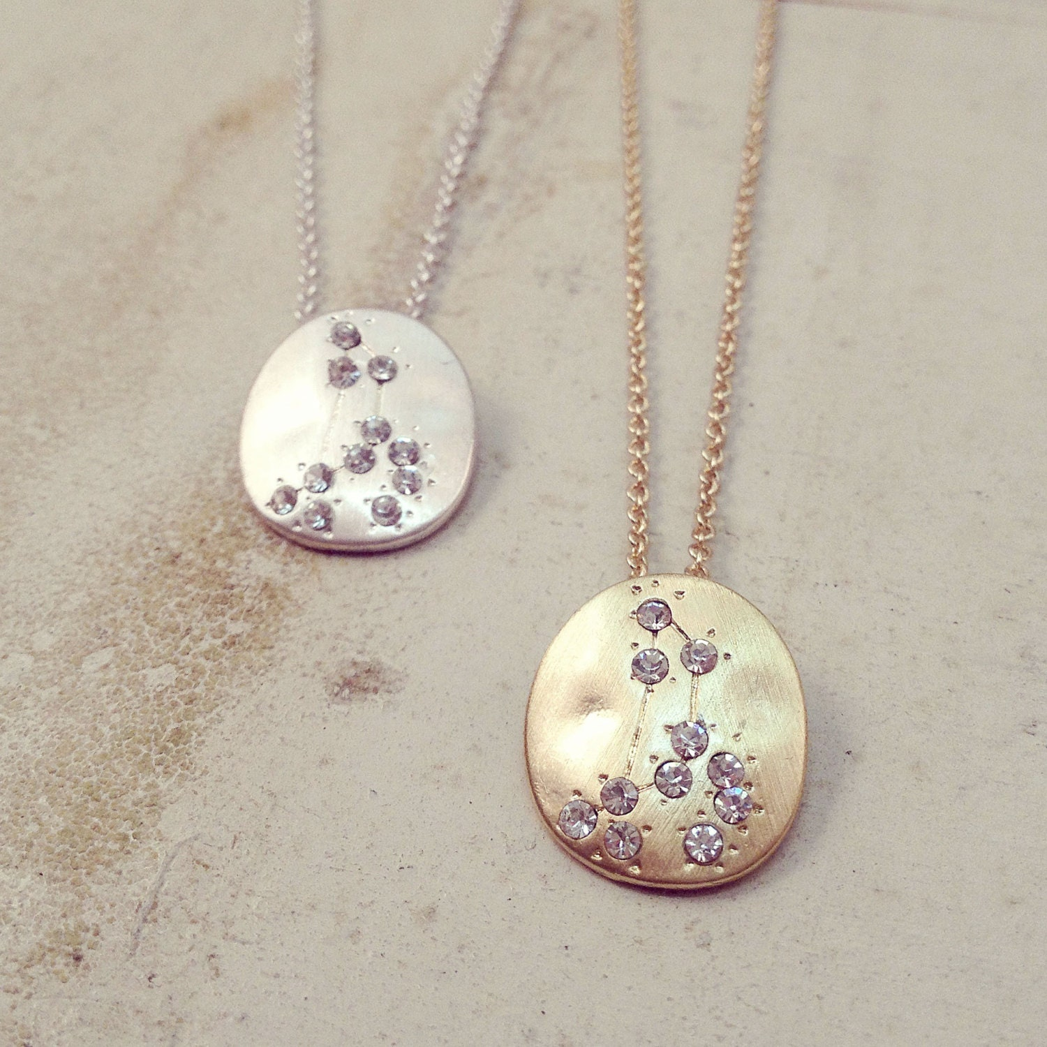 Hand Made LEO Zodiac Sign Constellation Necklace SILVER or
