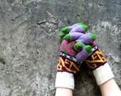 Winter Gloves Unisex, Multcolor Knit Gloves, Women's Winter Cozy Gloves, Gloves Teens, Arm Warmer, Knitted Accessories, Wrist Warmer, Autumn