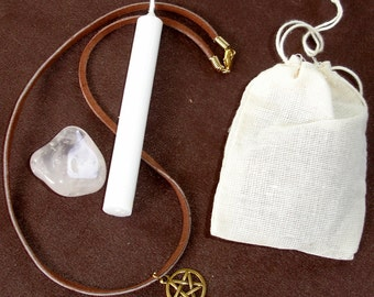 House Blessing Spell Kit  with Token Necklace  - Everything You Need