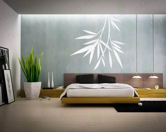 Bamboo Wall Decal Bedroom Wall Art Living Room Decor Decals Stickers Large Mural Chinese Decal Vinyl sticker White - SALE Clearance