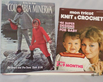Vintage 1960 Knitting Books and Needles Lot