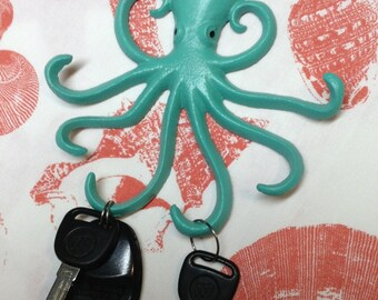 Octopus Wall Hooks/Nautical/Beach/Nursery/Child's Room
