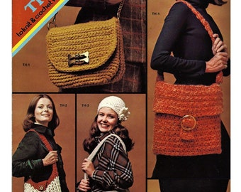 Things to knit & Crochet with Washable Rug Yarn /  Pattern Book / Columbia Minerva Leaflet 2576