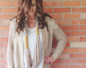Loop Scarf in Wheat and Mustard