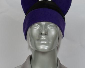 Purple Mohawk Hat