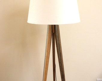 Floor Lamp Tripod Slim - Black Limba (African)