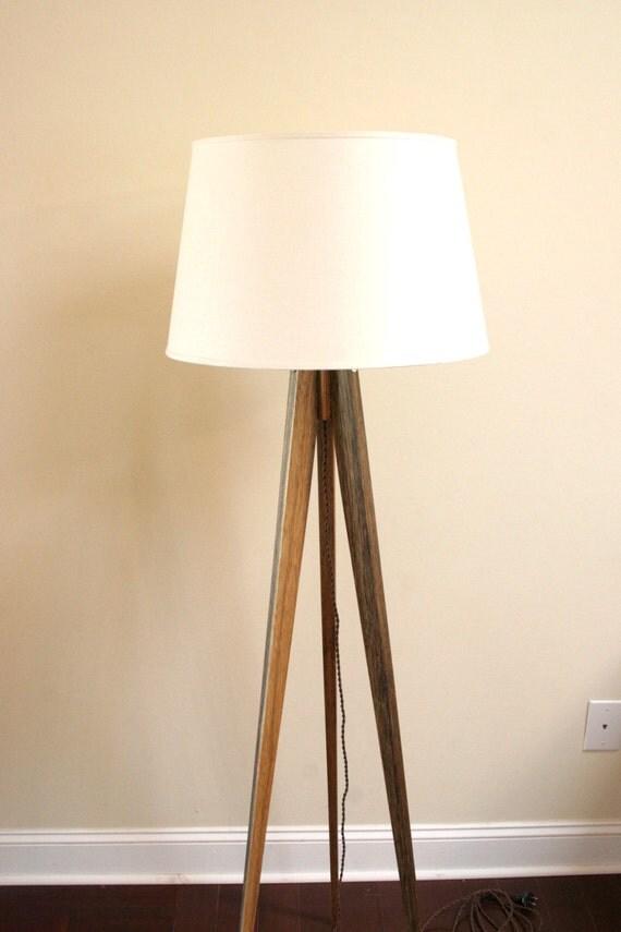 floor lamp tripod slim black limba african. Black Bedroom Furniture Sets. Home Design Ideas