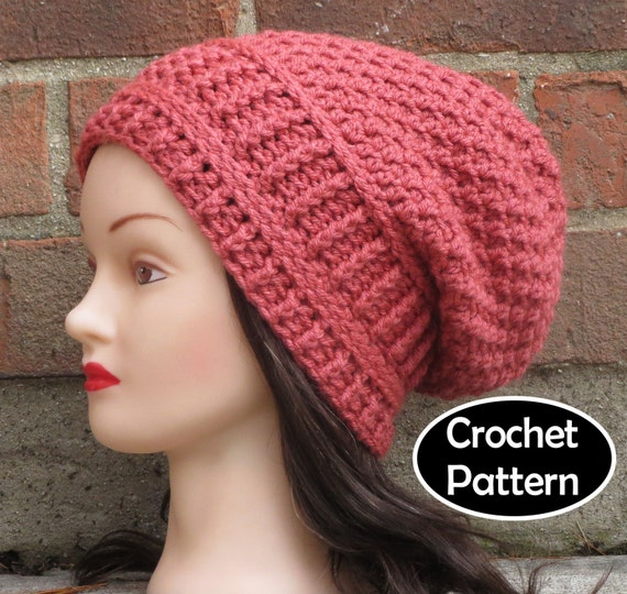 Crochet Hat Pattern Download : CROCHET HAT PATTERN Instant Pdf Download Paige Slouchy