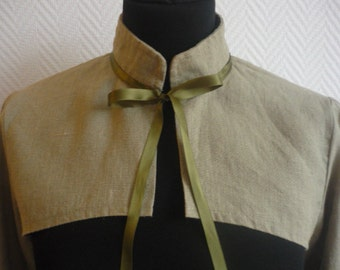 SALE! Sleeved bolero light green linen,  victorian, gothic, linen steampunk Size 8/10