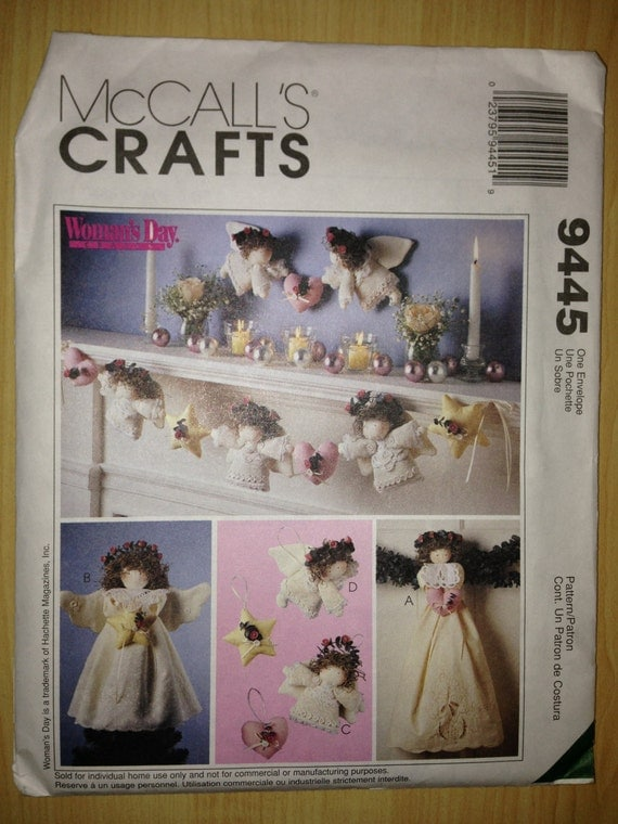 McCalls Crafts Sewing Pattern 9445 Christmas Decorations