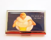 Funny Card Case, Business Card Case, Humor, Sassy women, Card case, business card holder, Retro, Kellys Magnets, Big Deal (4016)