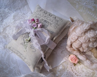 2 Jane austen lavender sachets gift set Emma and Pride and Prejudice mothers day birthday shower