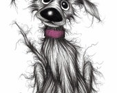 Mr Mucky paws Print download Cute looking but rather stinky mucky pet pooch who needs a good bath as soon as possible
