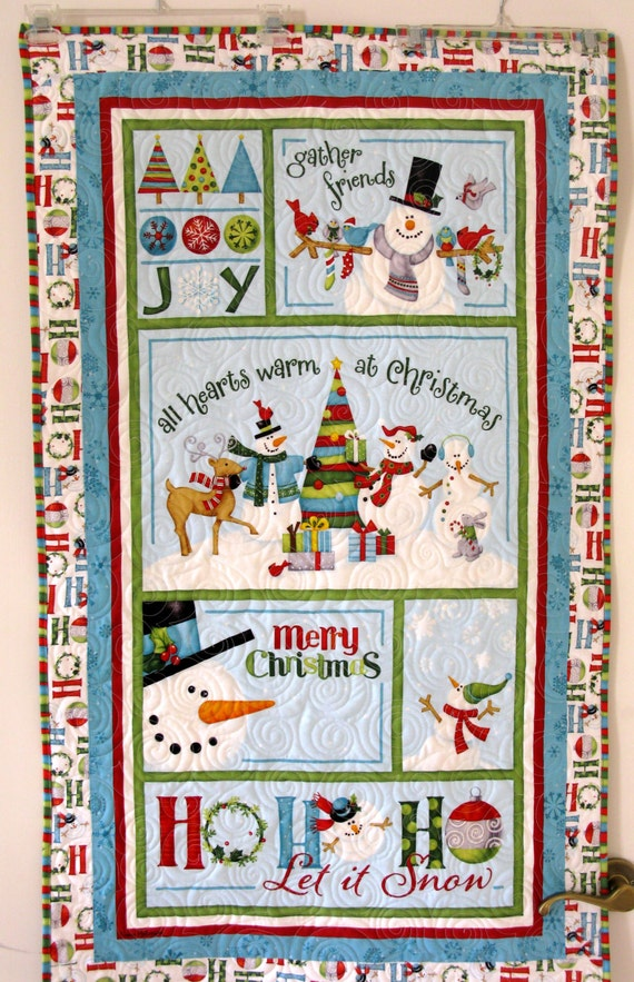 Snowman Joy Christmas Wallhanging