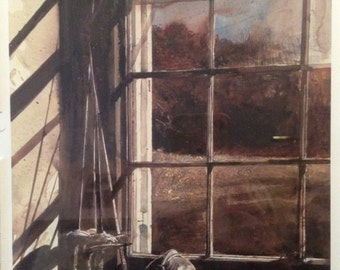 """Andrew Wyeth Signed and Framed Bookplate, """"Crossed Swords."""""""