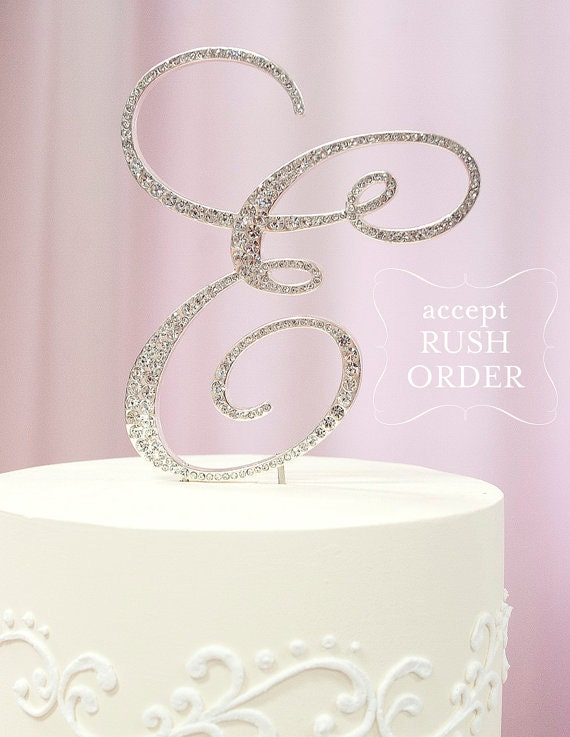 wedding cake toppers initials metal a z initial silver metal wedding d cake toppers set in 26512