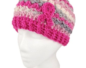 Breast Cancer Ribbon Support Beanie