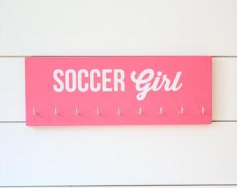 Soccer Girl Medal Holder - Medium