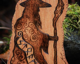 Wizard wood burning.