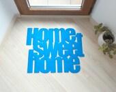 """Design door mat """"Home sweet home"""". Personalized rug."""