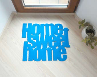 "Design floor mat ""Home sweet home"". Personalized and exclusive home decor."