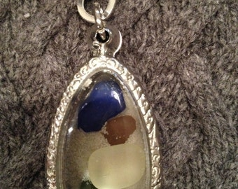 Beach Glass Sand Locket